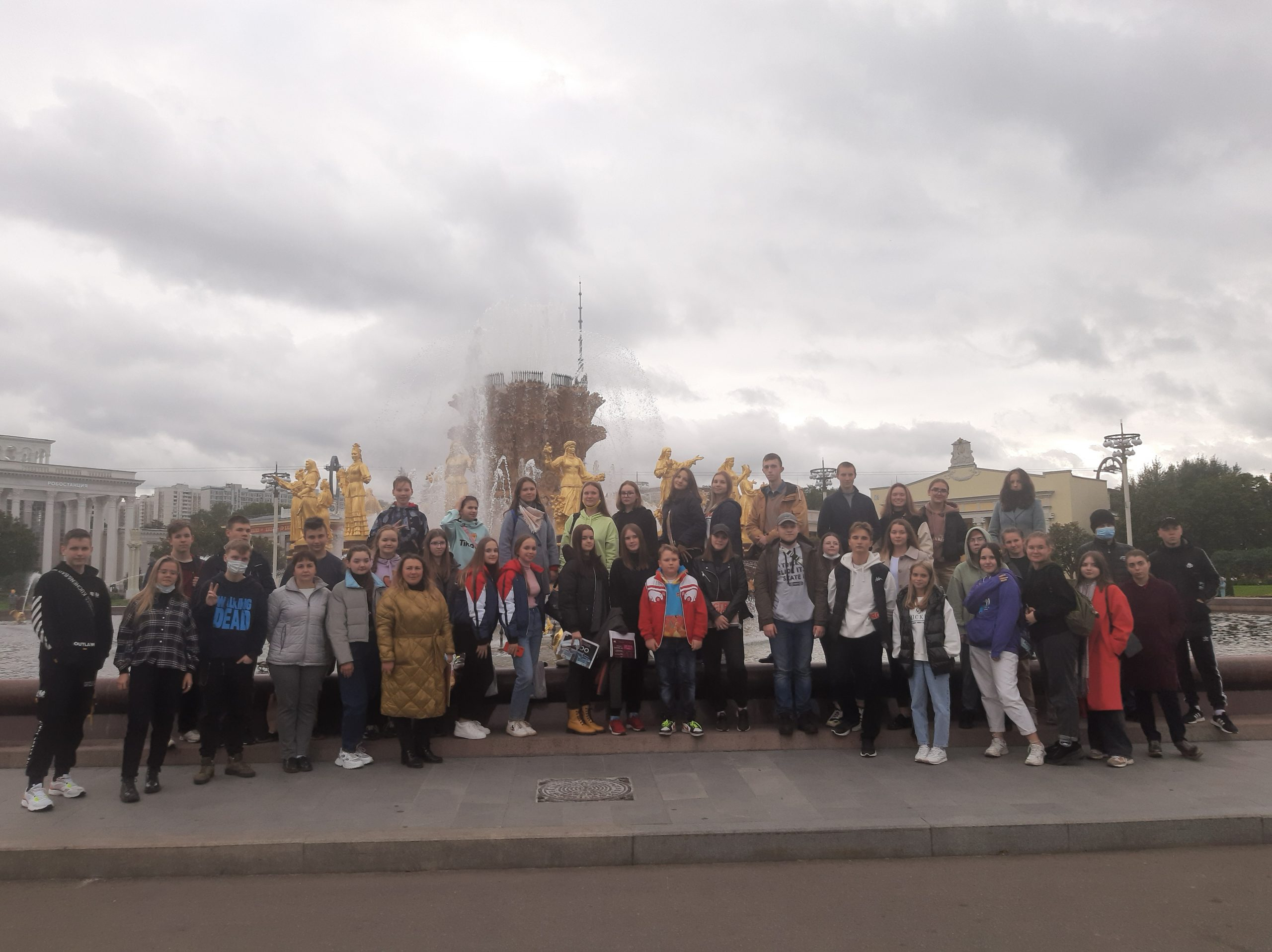 ФОТО: Рыбинские старшеклассники на ВДНХ 9 сентября